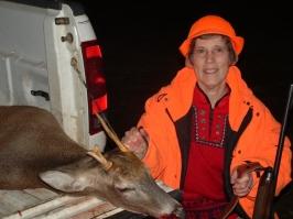 Joan Mayer's First Whitetail Deer
